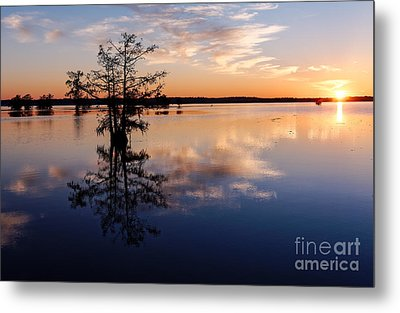 Watching The Sunset At Ba Steinhagen Lake Martin Dies Jr. State Park - Jasper East Texas Metal Print by Silvio Ligutti