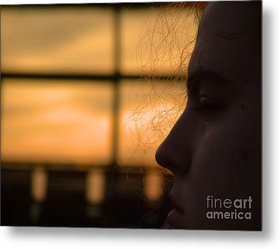 Watching The Sunset Metal Print by Robyn King
