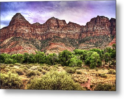 Metal Print featuring the photograph Watchman Trail - Zion by Tammy Wetzel