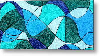 Water Abstract Metal Print by Genevieve Esson