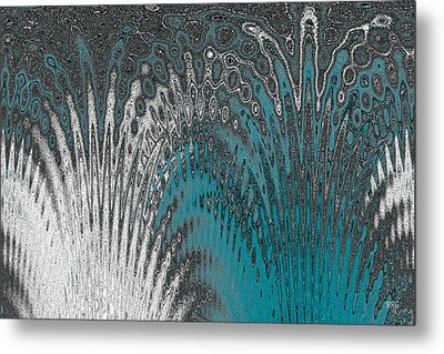 Water And Ice - Blue Splash Metal Print by Ben and Raisa Gertsberg