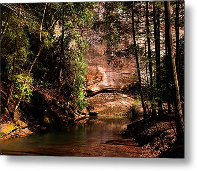 Metal Print featuring the photograph Water And Sandstone by Haren Images- Kriss Haren