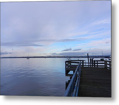 Metal Print featuring the photograph Water And Sky Of Bellingham Bay by Karen Molenaar Terrell