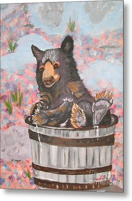 Metal Print featuring the painting Water Bear by Phyllis Kaltenbach