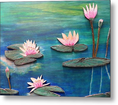 Water Blossom Metal Print