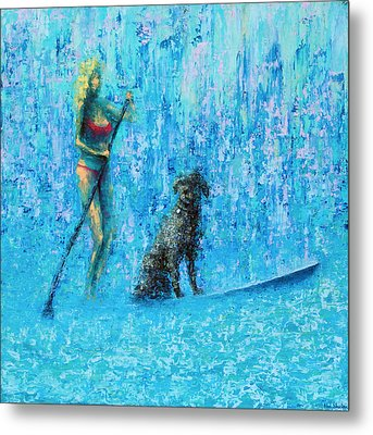 Water Dog Metal Print by Ned Shuchter