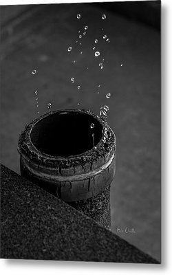 Water Dripping Up The Spout Metal Print by Bob Orsillo