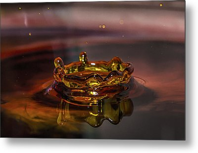 Water Drop Art Metal Print