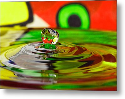 Metal Print featuring the photograph Water Drop by Peter Lakomy