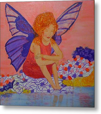 Water Fairy Metal Print by Judi Goodwin