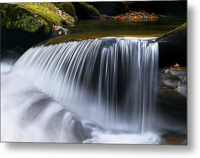 Water Falling Great Smoky Mountains Metal Print by Rich Franco