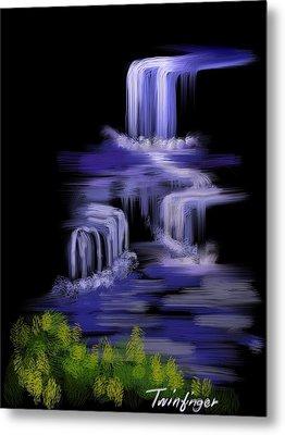 Water Falls Metal Print by Twinfinger