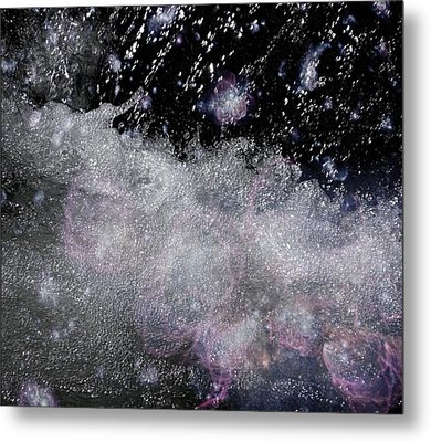 Water Flowing Into Space Metal Print