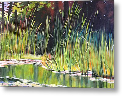 Water Garden Landscape II Metal Print by Melody Cleary