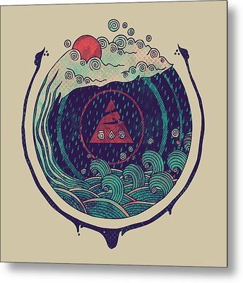 Water Metal Print by Hector Mansilla