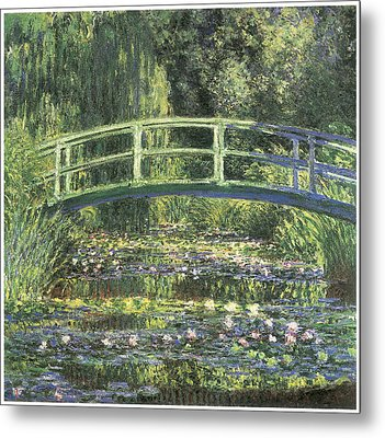 Water Lilies And Japanese Bridge Metal Print by Claude Monet