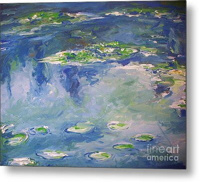 Water Lilies Giverny Metal Print by Eric  Schiabor