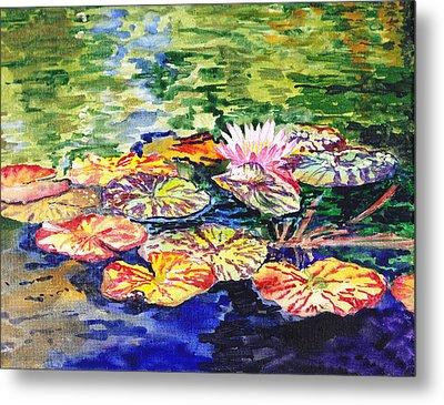 Water Lilies Metal Print by Irina Sztukowski