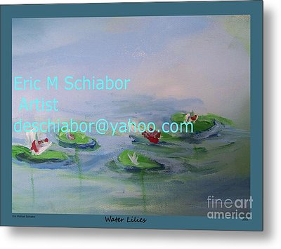 Water Lilies Print Metal Print by Eric  Schiabor