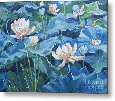 Water Lilies Two Metal Print
