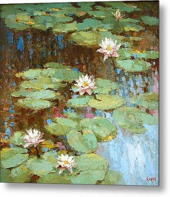 Water Lily Metal Print by Dmitry Spiros