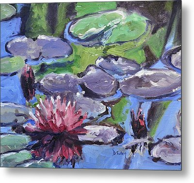 Water Lily Metal Print by Donna Tuten