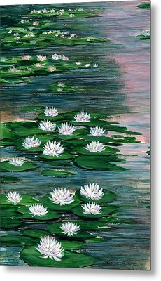 Water Lily Pads Metal Print by Steven Schultz