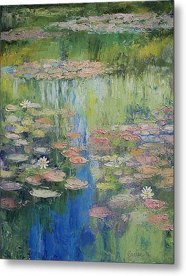 Water Lily Pond Metal Print by Michael Creese