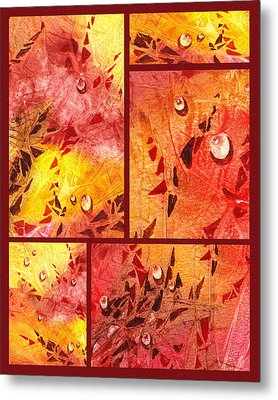 Water On Color Collage Eight Metal Print by Irina Sztukowski