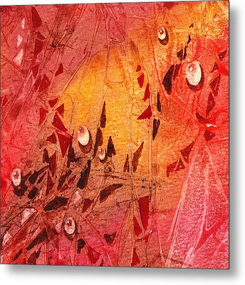 Water On Color Design Seven Metal Print by Irina Sztukowski