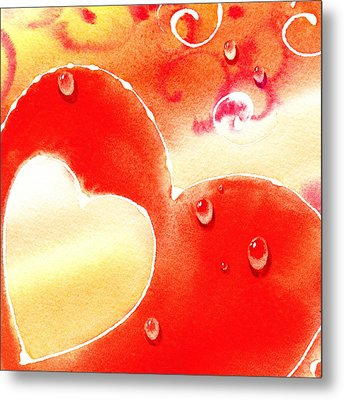 Water On Color Design Three Metal Print by Irina Sztukowski