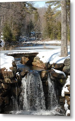 Metal Print featuring the photograph Water Over The Dam by Mim White