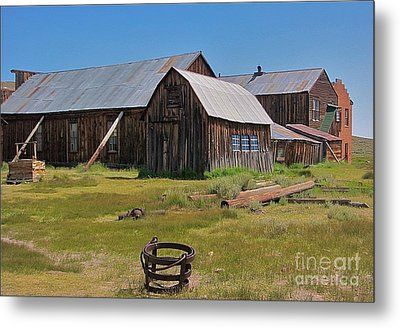 Water Pail - Bodie Metal Print by Amy Fearn
