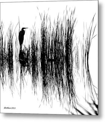 Water Reeds Metal Print