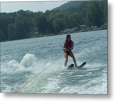 Water Skiing Is Fun Metal Print