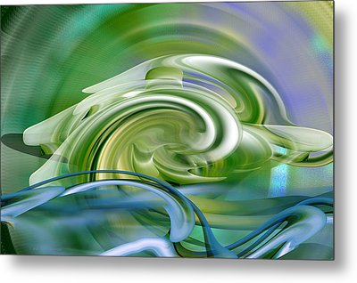 Water Sports - Abstract Art Metal Print