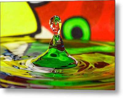 Metal Print featuring the photograph Water Stick by Peter Lakomy