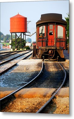 Water Stop Metal Print by Mary Beth Landis