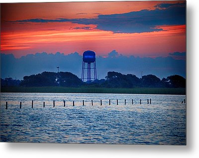 Metal Print featuring the digital art Water Tower by Michael Thomas