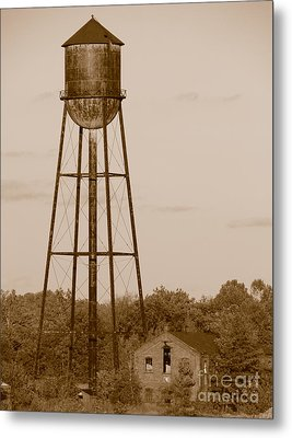 Water Tower Metal Print by Olivier Le Queinec