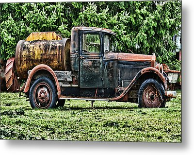 Water Truck Metal Print by Ron Roberts