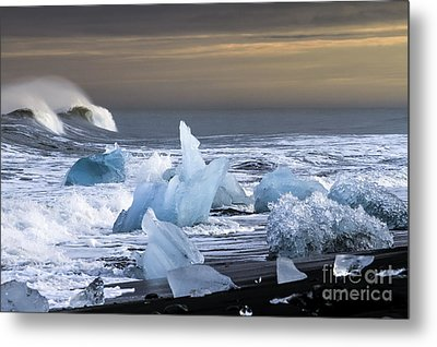 Metal Print featuring the photograph Water Versus Ice by Gunnar Orn Arnason