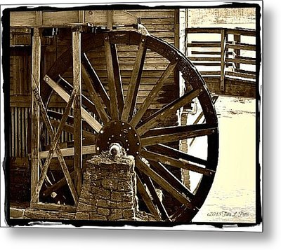 Metal Print featuring the photograph Water Wheel At The Grist Mill by Tara Potts