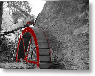 Metal Print featuring the photograph Water Wheel.  by Christopher Rowlands