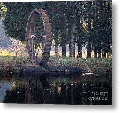 Water Wheel Metal Print by Erica Hanel
