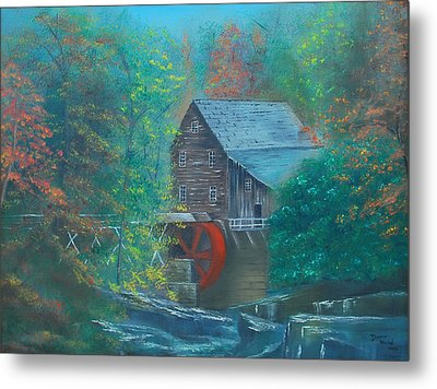 Water Wheel House  Metal Print by Dawn Nickel