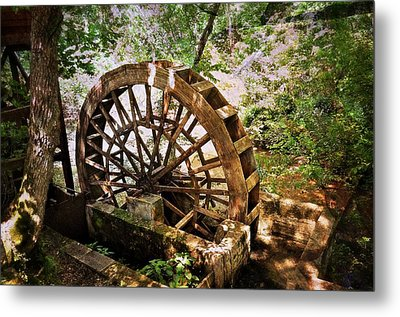 Water Wheel Metal Print by Marty Koch