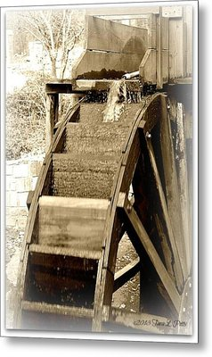 Water Wheel Metal Print by Tara Potts