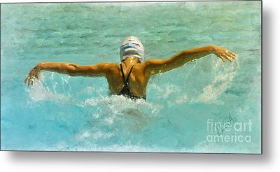 Water Wings Metal Print by Andrea Auletta