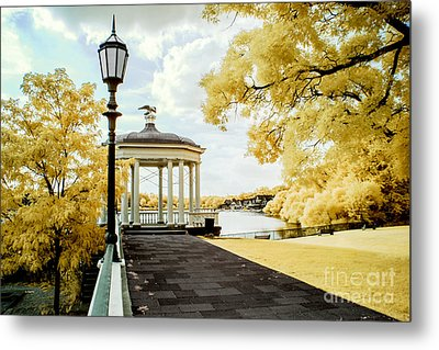 Water Works And Boathouse Row Metal Print